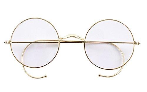 Agstum Retro Round Optical Rare Wire Rim Eyeglass Frame (Without Nose Pads)