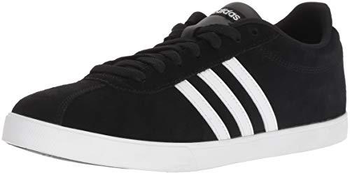 adidas Women's Courtset Sneaker, Black/White/Matte Silver, 8.5 M US