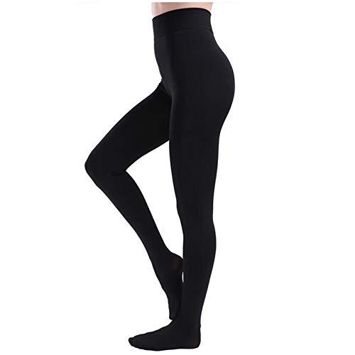 GIEADUN Collant donna termico nero con interno in pile, Collant e calzamaglie da donna inverno (Giallo, L) (Nero)