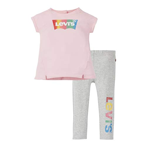 Levi's Kids Baby - Mädchen Hose Lvg Tunic Legging Set Rose Shadow 36 Monate