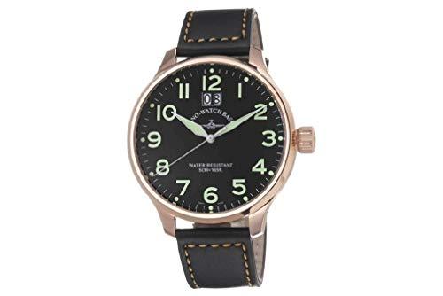 Zeno Watch Basel Herren Uhr Analog Quarz mit Leder Armband 6221-7003Q-Pgr-a1
