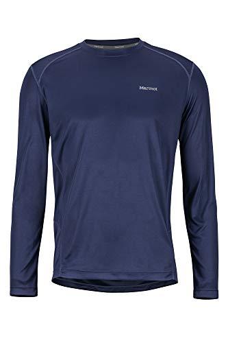 Marmot Windridge Ls T-Shirt Manche Longue, Chemise de randonnée, Idéal pour Le Sport, la Gym, séchage Rapide, Respirant Homme Arctic Navy FR: S (Taille Fabricant: S)
