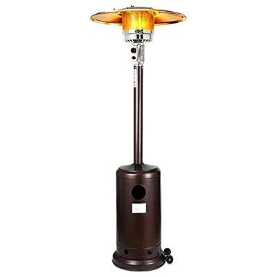 EVOOP 48000-BTU Copper Iron Floorstanding Liquid Propane Patio Heater