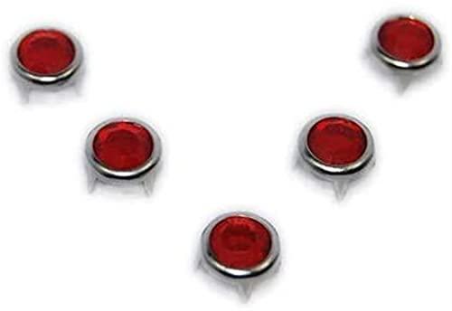 DXFFOK 200 Pack Dia.Tachuelas Redondas de Rhinestone acrílico de 8 mm Bricolaje Punk Rock ROVET Nailheads Spike Bolsos de Cuero Cinturones Zapatos Cuello Accesorios de Costura (Color Surtido 200pcs)