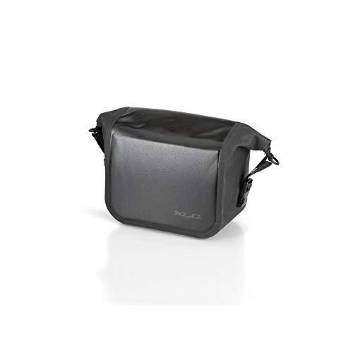 XLC Unisex– Erwachsene Lenkertasche wasserdicht Packtasche, schwarz, 1size