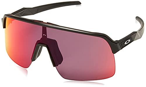 Oakley Men's OO9463 Sutro Lite Rectangular Sunglasses, Matte Black/Prizm Road, 139 mm