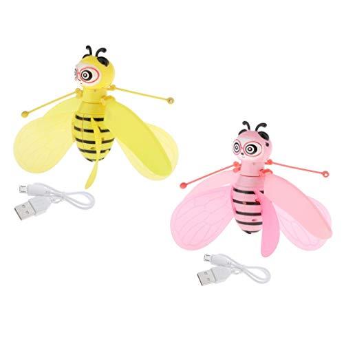 Colcolo 2pcs Flying Bee Drone Toy Sensor Infrarrojo Recargable Teen Toy Juegos de Interior