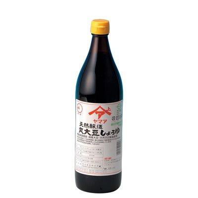 天然醸造 丸大豆醤油(こいくち) 900ml瓶 無農薬 無化学肥料