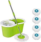 Khatu Easy Spin 360 Degree Rotating PVC Magic Mop Set for Wet and...