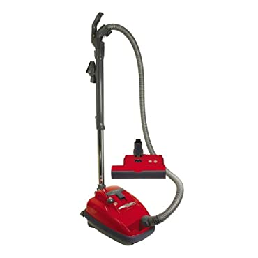 SEBO 9687AM Airbelt K3 Canister Vacuum with ET-1 Powerhead and Parquet Brush, Red Corded