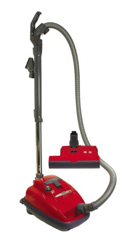 SEBO 9687AM Airbelt K3 Canister Vacuum with ET-1 Powerhead and Parquet Brush, Red - Corded