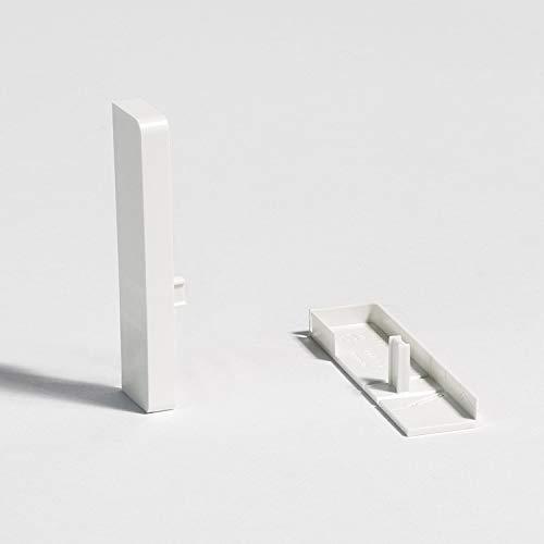 Parador Abschlusskappen höhenvariabel für Sockelleisten - weiß - Typ SL 3/5/6/18 - Doppelpack
