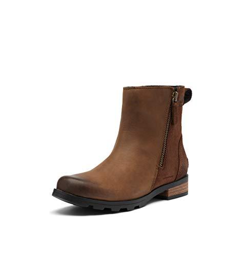 Sorel Women's Emelie Zip Bootie - Light and Heavy Rain - Waterproof - Kilay, Tobacco - Size 7.5
