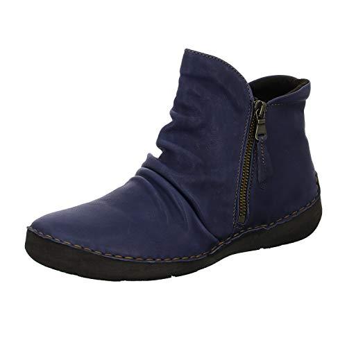 Josef Seibel Damen Stiefeletten Fergey 24, Frauen Klassische Stiefelette, Women's Women Woman Freizeit Stiefel Boot Bootie,Blau,44 EU / 9.5 UK