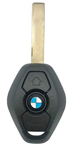 New Uncut Keyless Entry Remote Control Car Key Replacement Fit for BMW LX8 FZV Z4 X 3 X5 E46 Series 3 5 6 7 Z3 Chip ID44 EWS 315MHZ / 433MHZ