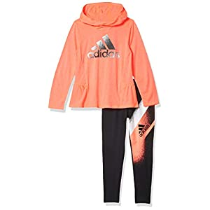 adidas Girls' Hooded Top and Legging Clothing Set