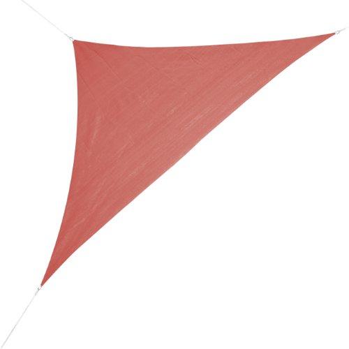 Corasol 160124 Premium Sonnensegel, 5 x 5 x 7 m, 90° Grad Dreieck, wasserabweisend, rot