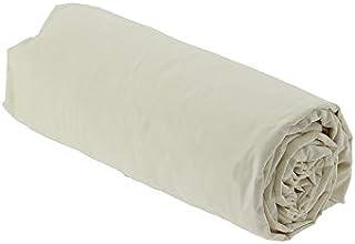 Drap House Percale 160x200 Bonnet 40 cm - Couleur: Ecru