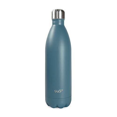 WD Lifestyle - Bottiglia termica monocolore (1L, Azzurro)