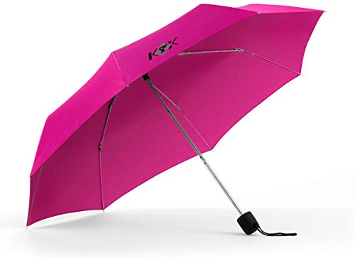k8k Umbrellas Rain Essentials Manual Compact, Hot Pink, One Size