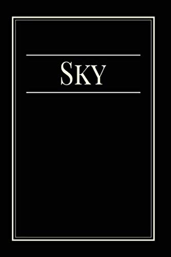 Sky: Notebook with black paper, write on black paper, Gift Idea for Sky , 120 Pages, 6 x 9 in