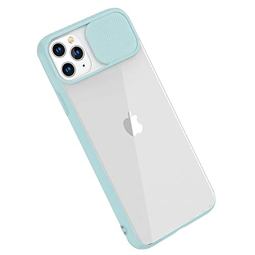 Rdyi6ba8 Funda Compatible con iPhone 11 Pro MAX, Carcasa Trasera Transparente Mate PC y Silicona TPU Bordes Resistente a Impactos [Protección de la cámara] Caso para iPhone 11 Pro MAX, Cielo Azul