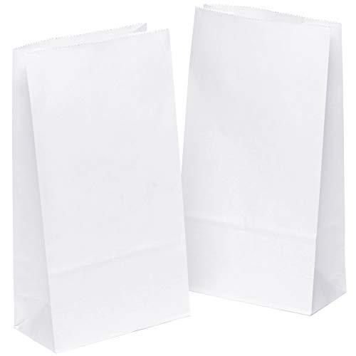 kgpack 50x Bolsas de Papel Kraft DIY 14 x 26 x 8 cm | Bolsas de Papel Kraft para niños | Calendario de adviento | Bolsa de Regalo de Fondo Plano | Bolsa de Papel de Alimentos