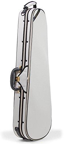 Geigenkoffer 4/4, leicht und stabil - ROKKOMANN Geigenkasten SuperLight Formetui (elfenbein)