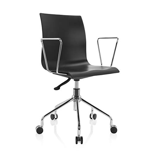hjh OFFICE 742018 Skagen - Silla giratoria (plástico), color negro