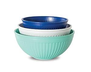 Nordic Ware Prep & Serve Mixing Bowl Set, 3-pc, Set of 3, Coastal Colors