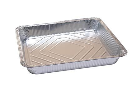 40 contenitori in alluminio tradizionali 12porzioni , vaschetta monouso linea professionale, teglie in alluminio take way ,forma rettangolare, 5000cc. (210)