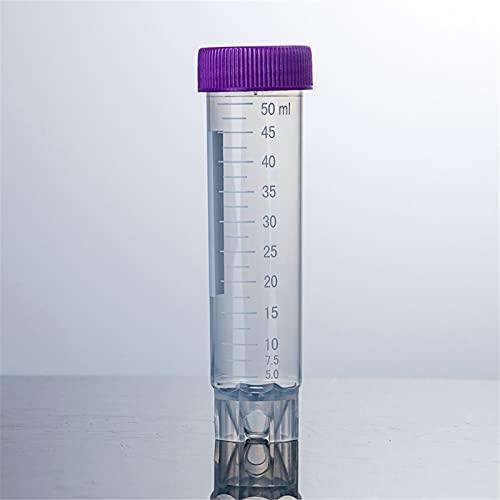 ANYURAN 25 Stück 50 ml Kunststoff-Zentrifugenröhrchen, Steriles Blutentnahmeröhrchen Mit Skala und Schraubverschluss, EO Steriles Polypropylen Auslaufsicher für wissenschaftliche Experimente
