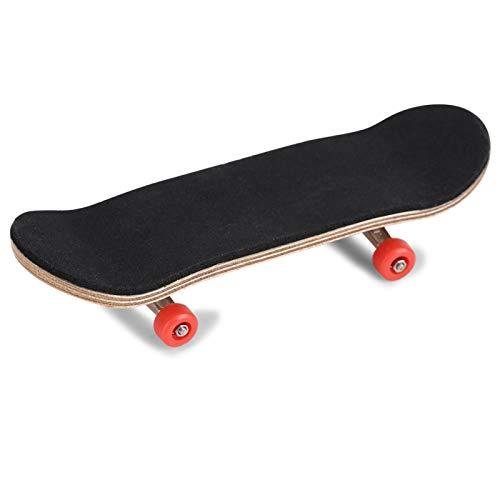 Patineta de diapasón, 1 Pieza de Madera de Arce y diapasón de aleación, patinetas de Dedo con Caja para Reducir la presión, Regalos para niños(Rojo)