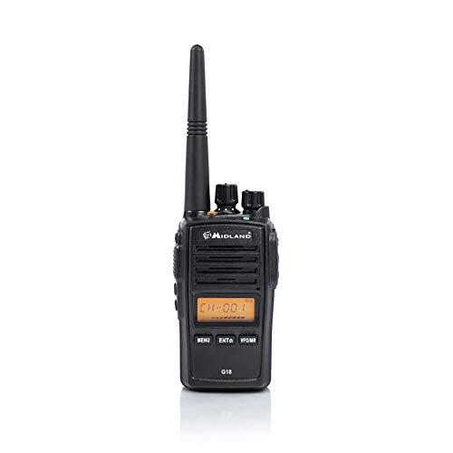 Midland G18 Radio portatil-Walkie Talkie, Negro