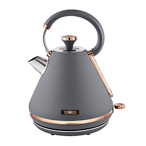 Tower T10044RGG Cavaletto Pyramid Kettle with Fast...