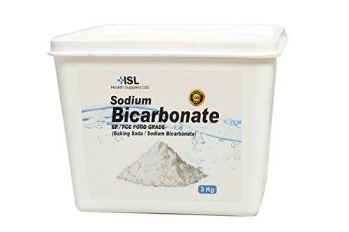 Bicarbonato de bicarbonato de sodio (–3kg | de alta calidad | baño, hornear, limpieza