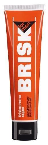 Brisk Frisiercreme Super - Standtube (2 x 100 ml Tube) - gibt Männerhaar natürlichen Halt