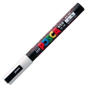 (まとめ) 三菱鉛筆 水性マーカー ポスカ 細字丸芯 白 PC3M.1 1本 【×30セット】 ds-1586432
