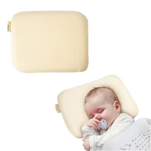 Cuscino Neonato Anti-Spostamento Sfoderabile per la prevenzione e cura della Plagiocefalia (Testa Piatta) Memory Foam - Boquerias