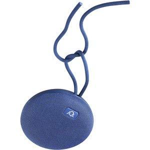AQL - Tragbarer Bluetooth-Lautsprecher mit hoher Wasserbeständigkeit und IPx 7, Mikrofon für Anrufe, Clip und Kabel, Farbe: Blau