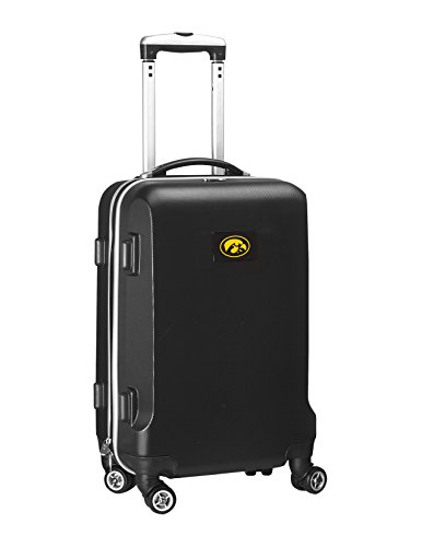 Buy Bargain Denco NCAA Iowa Hawkeyes Carry-On Hardcase Luggage Spinner, Black