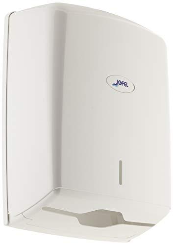 Wc-papierhouder grote rollen Jofel ah37000 smart papier handdoek dispenser, zick-zack perforatie, wit