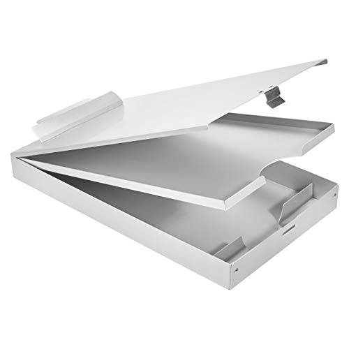 Amazon Basics Portapapeles de almacenamiento de aluminio, 35,5 x 23 cm, 3 niveles, clip estándar