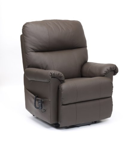 BORG DUAL MOTOR RISE AND RECLINE CHAIR in Brown by Restwell