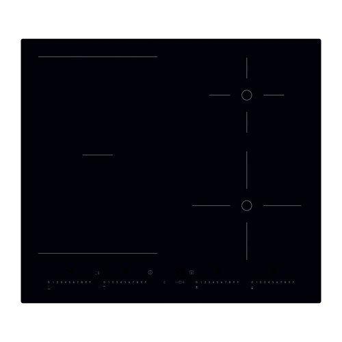 IKEA OTROLIG Induktionskochfeld in schwarz; (58cm)