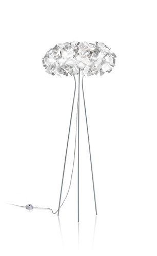 Slamp vloerlamp Clizia wit/zwart, handgemaakt, Made in Italy
