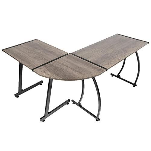 Escritorio de oficina de madera en forma de L escritorio de esquina multiusos PC portátil estudio mesa de juegos para el hogar y la oficina muebles
