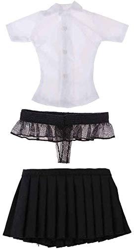 ZSMD 1/6 Shirt & Rock & ondergoed slip voor 12 inch vrouwelijke actiefiguur