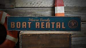 TammieLove Barco de Alquiler, Nombre Familiar Playa metalSign 222 para Interior Exterior Patio Street Signs 16 x 4 Pulgadas