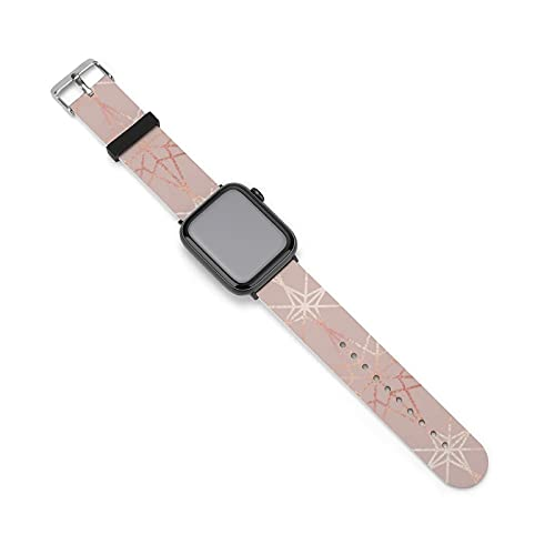 Correa de silicona de oro rosa para reloj Apple, adecuada para mujeres y parejas, longitud ajustable, 38mm/40mm,